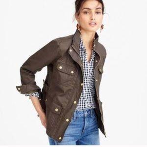 J. Crew   Resin-coated twill jacket size medium
